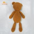 Juguete de ganchillo para bebé hecho a mano de fábrica Osito de peluche marrón