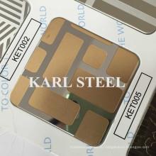 Цвет нержавеющей стали Вытравленный лист Ket005 на отделочные материалы