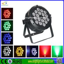 Guangzhou luz par 18x10w 5in1 rgbwa dmx poder levou luz luz estágio par