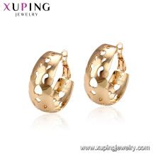 95137 xuping venda quente preço de fábrica na moda 18 k ouro preenchido brinco de argola imitação de jóias