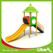 EN1176-Certified Double Slides Petite taille Kids Outdoor Play Set pour la maternelle