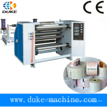 Máquina de Rebobinadora de Corte de Papel de Alta Precisão de Alta Velocidade, Rebobinadora de Papel de Fax, Rebobinadora de Fita de Papel Sem Carbono