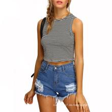 Pantalones cortos de mezclilla de las mujeres de la moda del verano 2017 de la fábrica