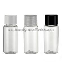 Garrafa plástica de PET 15ml para produto cosmético