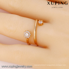 13776- Xuping Fashion CZ Stone Crystal Jewelry Revolve Ring