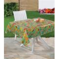 Nappe transparente imprimée par PVC coloré avec la conception de fruit pour la maison / partie / extérieur