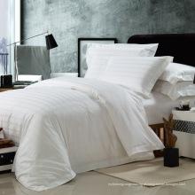Satin Check Hotel Algodão Bedding Set com conjunto de edredão (WS-2016064)