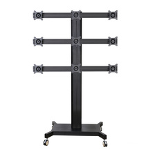 "Public TV Floor Stand Wheelbase 9-Monitor 10-24"" (AVD 009F)"