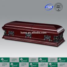 LUXES Funeral serviço americano venda quente caixões de madeira MDF