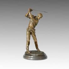 Statue sportive Joueur Golf Bronze Sculpture, Milo TPE-025