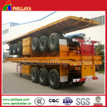 Container Tansport Semi Flatbed Trailer