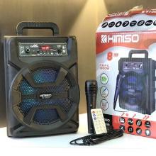 QS-5801B 8 Inch Speaker Outdoor Portable Trolley Speaker DJ Speaker System Subwoofer Sound Box With LED Light KIMISO