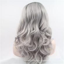 peluca llena sintética colorida del frente del cordón de la manera al por mayor barata