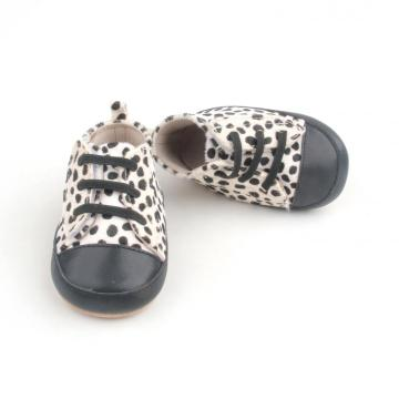 Cute Cow Spot Mo-hair Upper Baby Shoes Casual