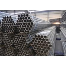 Tubos redondos de acero pregalvanizado ERW con Q195, Q235, Q345 Grado de acero