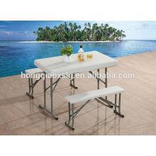 Mesa plegable de plástico al aire libre y los fabricantes de banco / mesa de la cerveza y banco