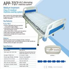 Hochklassige klare TPU medizinische Luftmatratze mit Kompressor ABC wechselnde aufblasbare Luftmatratze APP-T07