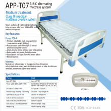 Alta classe TPU claro colchão de ar médico com compressor ABC alternando inflável colchão de ar APP-T07