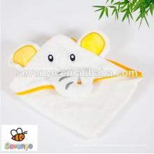Elefante de luxo com capuz toalha de bebê | 100% Algodão / Bambu Extra Macio e Absorvente | Tamanho grande para bebês, crianças, recém-nascidos e