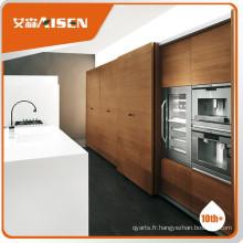 Armoires de cuisine en placage de bois à rendement stable