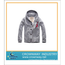 100% Cotton Jacket with Hoodie for Man, New Design