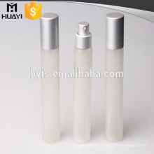 hot sale 35ml frosted glass sprayer perfume tube with aluminium spray