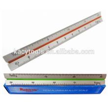 """15cm 6"""" Triangular Aluminum Scale Ruler KC-61023"""