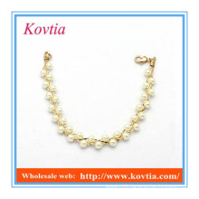 Dongguan jewelry bracelet pearl bead landing charms bracelets gold accessories women
