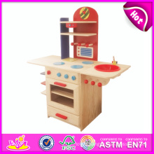 2014 New Pretend Wooden Baby Kitchen Toy, Popular Wooden Wooden Baby Kitchen and Hot Sale Wooden Baby Kitchen W10c081b