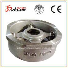 Válvula de retenção de balanço de disco único de aço inoxidável tipo Wafer