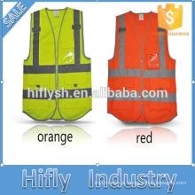 Colete reflector Destaque Colete reflector de segurança de construção de vestuário reflector Colete reflector de segurança de grande visibilidade