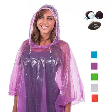 Poncho de PE desechable de color rosa