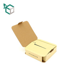 kraft paper folding shape cardboard paper packaging boxes for USB earphone