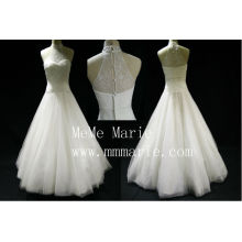 Robe de mariée à encolure à encolure à bas épaules à bas épaules Robe de mariée avec fermeture à glissière BYB-14595