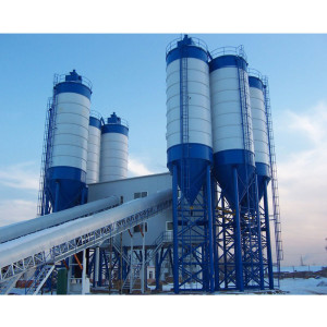 Planta de dosagem de concreto Sicoma Twin Shaft Mixer