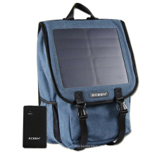 Outdoor Solar Powered Backpack Solar Panel 10W para Tablet Mobile Solar Power Bag