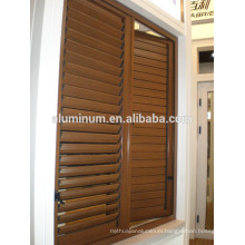 WOODEN aluminum shutters casement window China factory