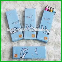 Lápis de cor de madeira redonda com conjunto