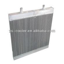 Engineering-Platte Fin Aluminium-Wärmetauscher für Baumaschinen / Rippenrohr Wärmetauscher / Baugeräte Teile