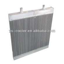 Echangeur de chaleur en alliage à plaque en ingénierie pour machine de construction / échangeur de chaleur à tube à ailettes / pièces d'équipement de construction