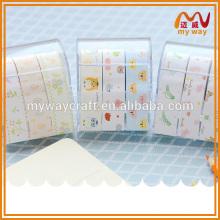 Novo design floral padrão notas, nota adesiva com caixa de plástico