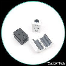 NiZn Soft Magnet Clip-on Ferrite Core para cables de línea