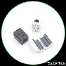 NiZn Soft Magnet Clip-on Ferrite Core para cables de línea