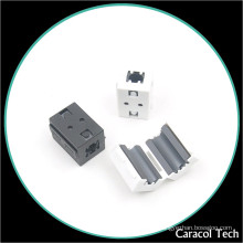 NiZn Soft Magnet Clip-on Ferrite Core For Line Cables