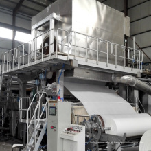 Máquina de fabricación de papel de tejido de pulpa de paja de arroz