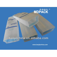 Disposable pouch, surgical glove packing pouch, heat seal gusseted pouch