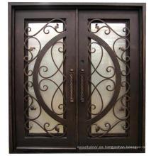 Puerta de hierro de acero exterior de alta calidad y mejor seguridad exterior