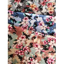 Camouflage Flower Rayon Challis 30S Printing Woven Fabric