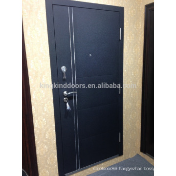 2015 New Steel Door KKD-712 with Aluminum Strips Main Door Design New Color