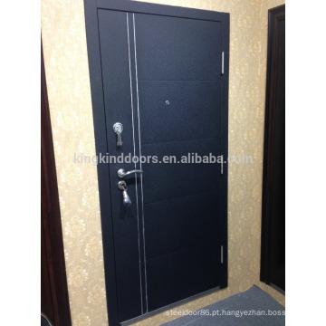 2015 novo KKD-712 de porta de aço com alumínio tiras porta principal projeto nova cor
